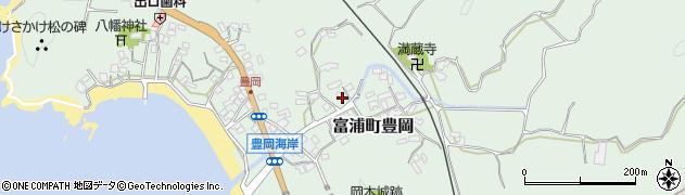 千葉県南房総市富浦町豊岡周辺の地図