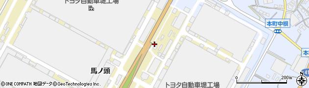 愛知県豊田市堤町(西根)周辺の地図