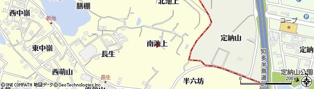 愛知県東海市名和町(南池上)周辺の地図
