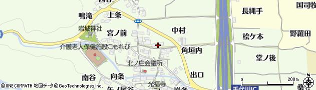 京都府亀岡市千代川町北ノ庄(中村)周辺の地図