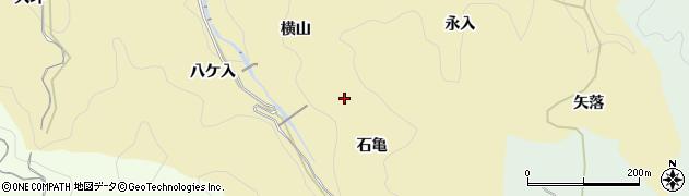 愛知県豊田市豊松町(石亀)周辺の地図