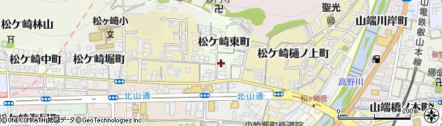 京都府京都市左京区松ケ崎東町周辺の地図