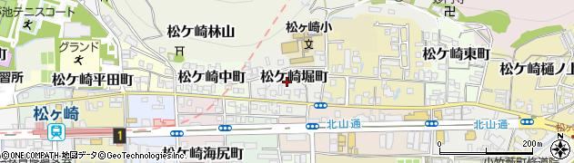 京都府京都市左京区松ケ崎堀町周辺の地図