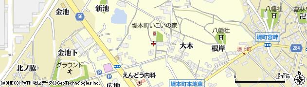 愛知県豊田市堤本町(西川)周辺の地図