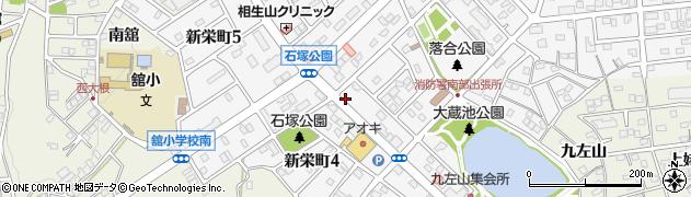 あさひだるま豊明新栄店周辺の地図