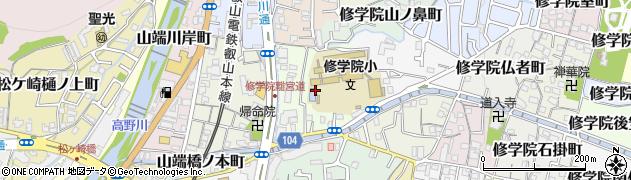 京都府京都市左京区修学院沖殿町周辺の地図