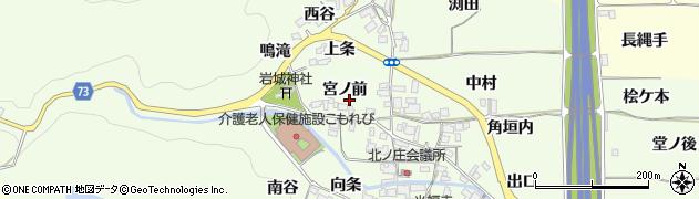 京都府亀岡市千代川町北ノ庄(宮ノ前)周辺の地図