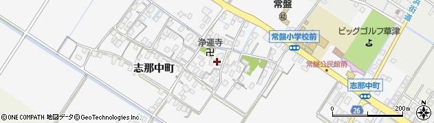 滋賀県草津市志那中町周辺の地図