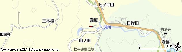 愛知県豊田市大内町(瀧坂)周辺の地図