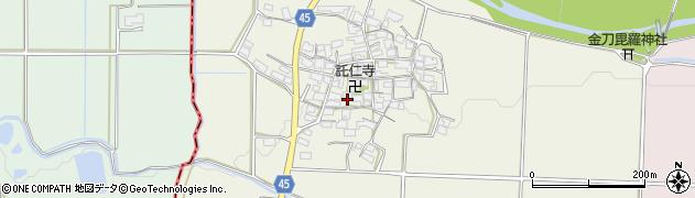 滋賀県蒲生郡日野町野出周辺の地図