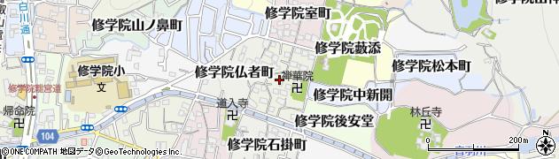 京都府京都市左京区修学院烏丸町周辺の地図