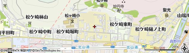 京都府京都市左京区松ケ崎御所ノ内町周辺の地図