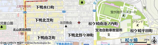 京都府京都市左京区下鴨南茶ノ木町周辺の地図