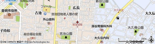 愛知県豊明市新田町周辺の地図