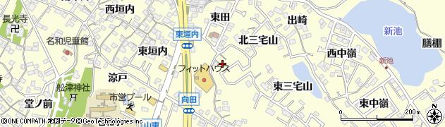 愛知県東海市名和町(西三宅山)周辺の地図