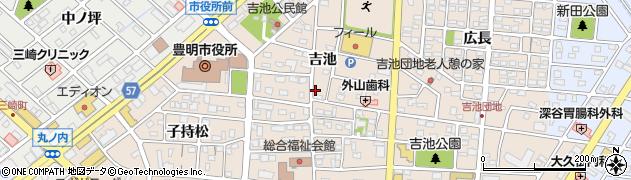 愛知県豊明市新田町(吉池)周辺の地図