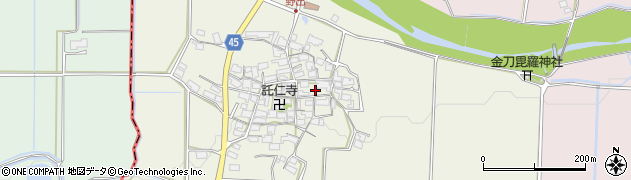 滋賀県日野町(蒲生郡)野出周辺の地図