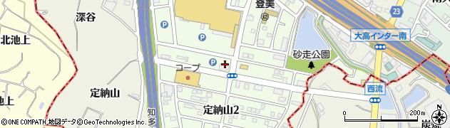 愛知県名古屋市緑区定納山周辺の地図