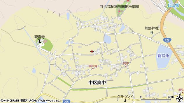 〒679-1107 兵庫県多可郡多可町中区奥中の地図