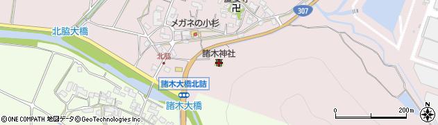 諸木神社周辺の地図