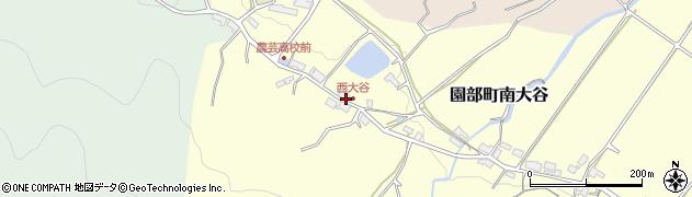 京都府南丹市園部町南大谷(西茶屋)周辺の地図