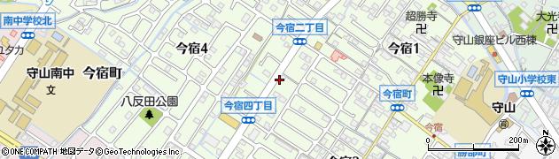 滋賀県守山市今宿周辺の地図