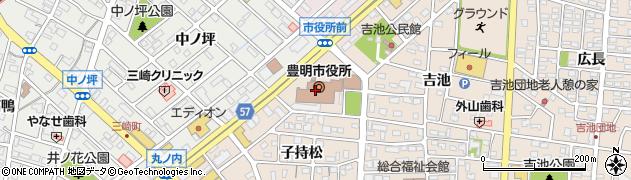 愛知県豊明市周辺の地図