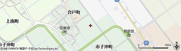 滋賀県東近江市市子沖町周辺の地図