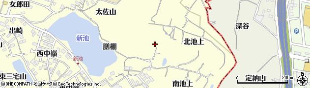愛知県東海市名和町(膳棚)周辺の地図