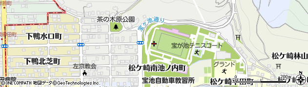 京都府京都市左京区松ケ崎西池ノ内町周辺の地図