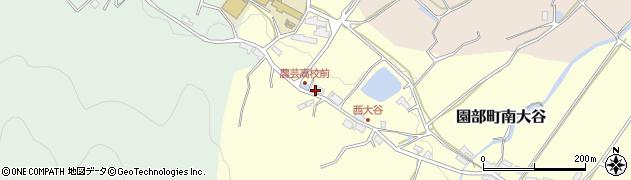 京都府南丹市園部町南大谷(堀釜)周辺の地図