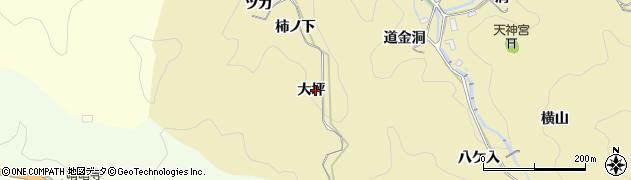 愛知県豊田市豊松町(大坪)周辺の地図