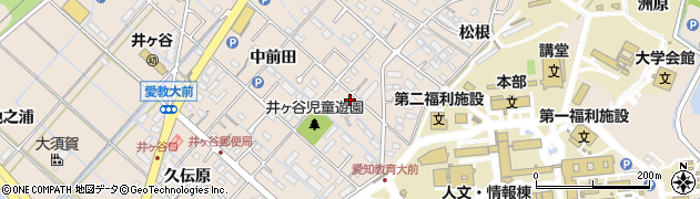 愛知県刈谷市井ケ谷町(寺山下)周辺の地図