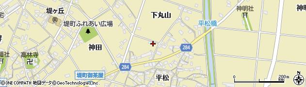 愛知県豊田市堤町(下丸山)周辺の地図