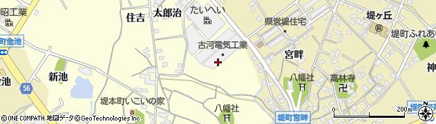 愛知県豊田市堤本町(下見)周辺の地図