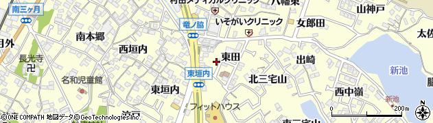 愛知県東海市名和町(東田)周辺の地図