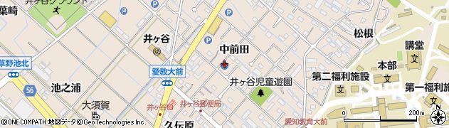 愛知県刈谷市井ケ谷町(中前田)周辺の地図