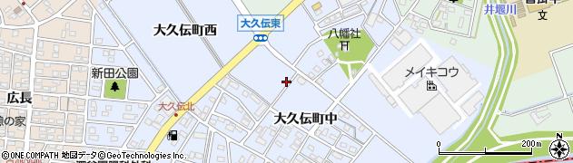 愛知県豊明市大久伝町周辺の地図