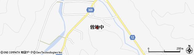 兵庫県丹波篠山市曽地中周辺の地図