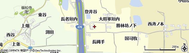 京都府亀岡市千代川町拝田(登井谷)周辺の地図