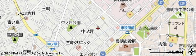 愛知県豊明市三崎町周辺の地図