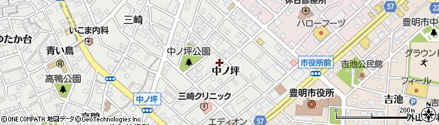 愛知県豊明市三崎町(中ノ坪)周辺の地図