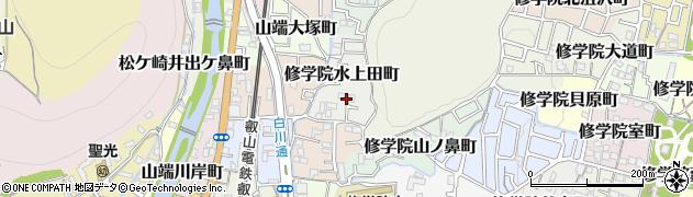 京都府京都市左京区修学院水上田町周辺の地図