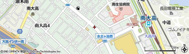 愛知県名古屋市緑区南大高周辺の地図