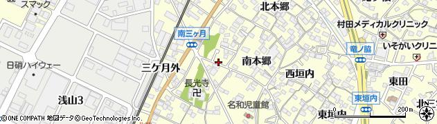 愛知県東海市名和町(榎戸)周辺の地図
