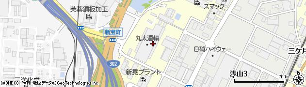 愛知県東海市名和町(北埋田)周辺の地図