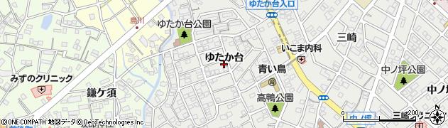 愛知県豊明市三崎町ゆたか台周辺の地図