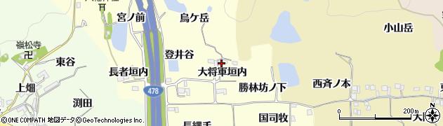 京都府亀岡市千代川町拝田(大将軍垣内)周辺の地図