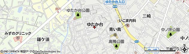 愛知県豊明市三崎町(ゆたか台)周辺の地図