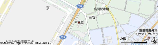 愛知県豊田市上丘町(三笠)周辺の地図